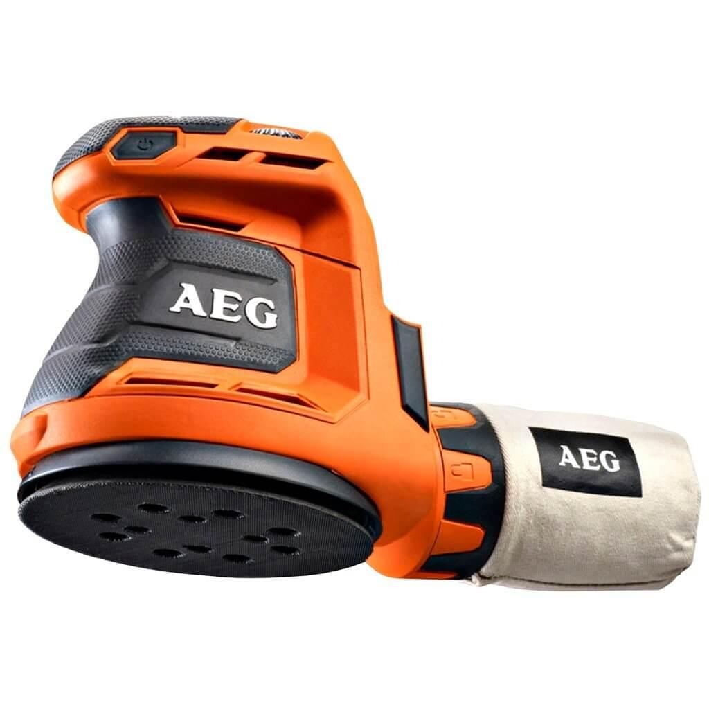 Szlifierka mimośrodowa AEG BEX18-125-0 (wersja bez akumulatora i ładowarki)