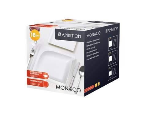 Komplet obiadowy Ambition Monaco 18-elementowy