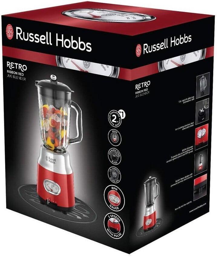 Blender kielichowy Russell Hobbs Retro Red 25190-56