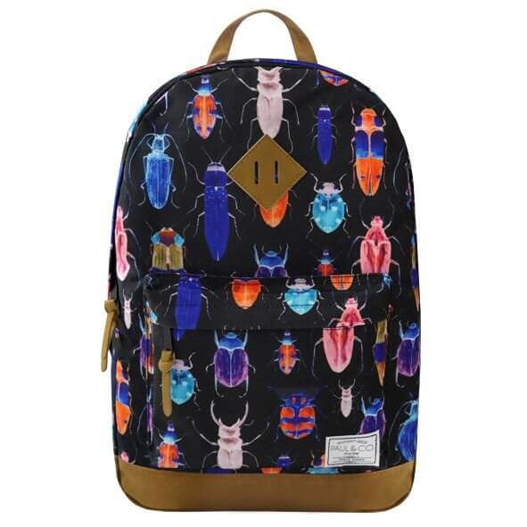 Plecak 27l Czarny z motywem chrząszczy
