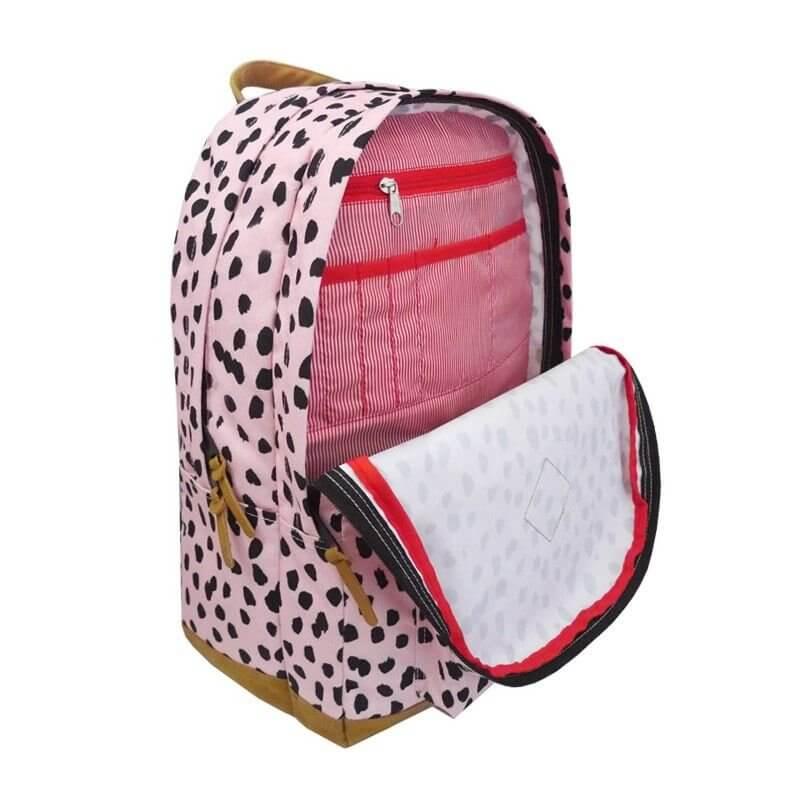 Plecak 27l Różowy z dodatkiem elementów w kolorze czarnym