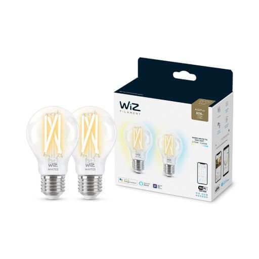 Żarówki SMART LED Filament przezroczysty A60 E27 x 2 szt. 60W TW WIZ