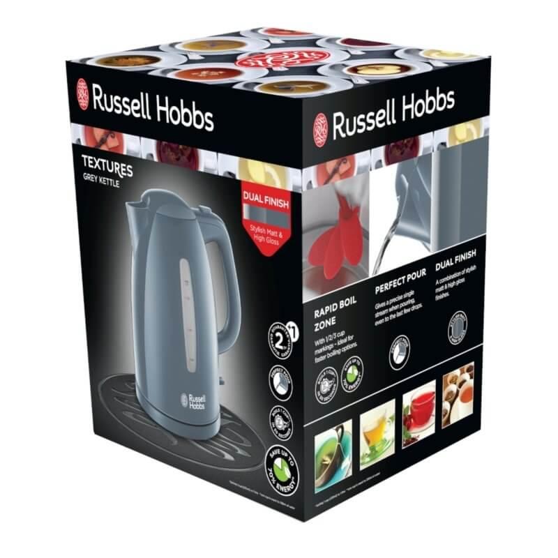 Czajnik Russell Hobbs Textures Grey   21274-70