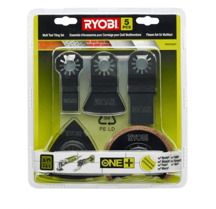 Zestaw osprzętu do narzędzia wielofunkcyjnego Ryobi RAK05MT