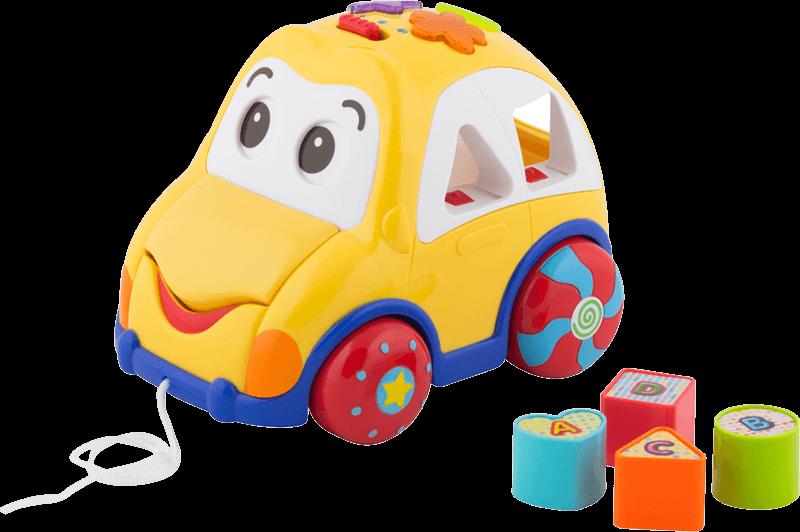 Samochód edukacyjny Auto sorter z klockami
