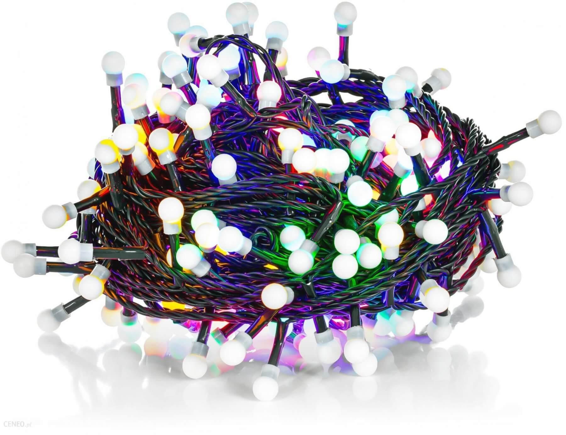 Łańcuch choinkowy kolorowe kulki 200xLED