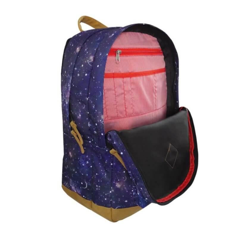 Plecak 27l Granatowy z kosmicznym motywem