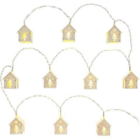 Domki świetlne łańcuch RXL 268, drewno. 10x WW TM RETLUX