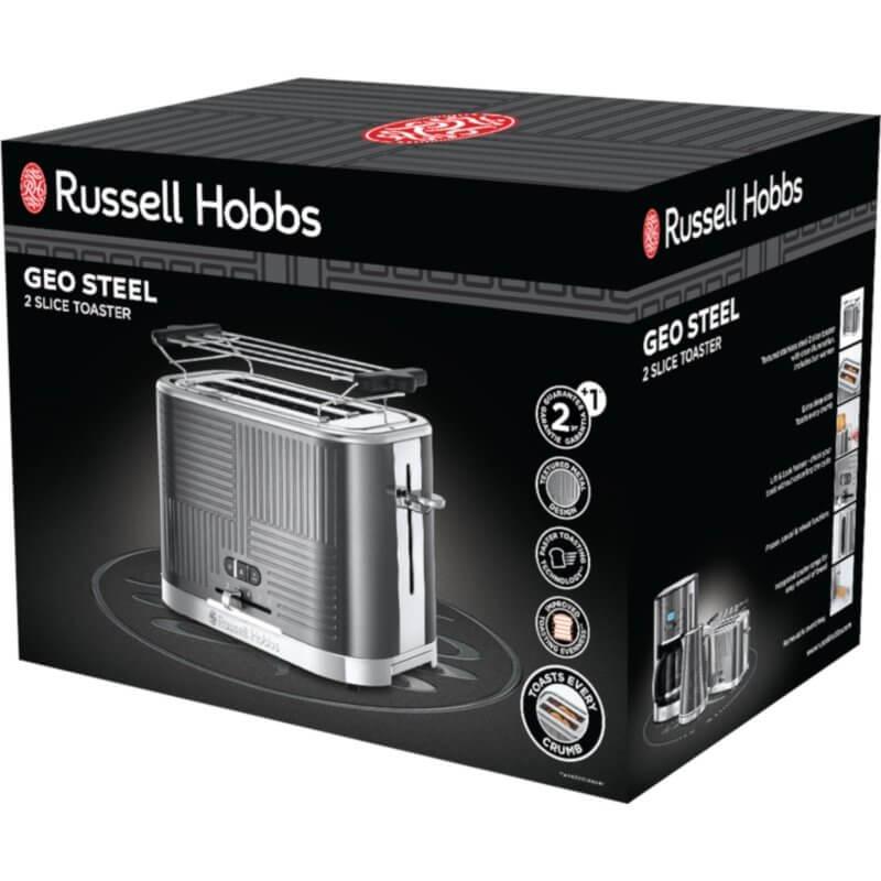 Toster Russell Hobss Geo Steel 25250-56 na 2 kromki