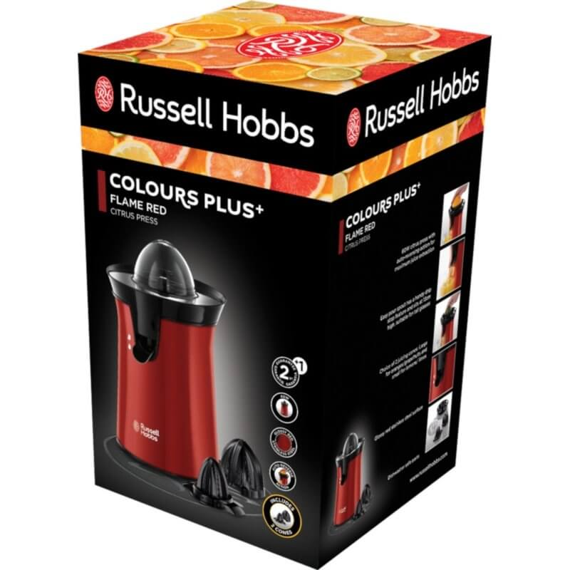Wyciskarka do cytrusów Russell Hobbs Colours Plus+ Flame Red 26010-56