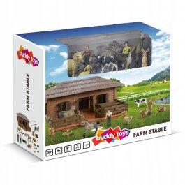 Stajnia dla koni i zwierząt Buddy Toys