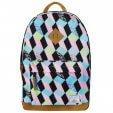 Plecak 27l w pastelowym kolorze z gometrycznymi elementami w kształcie rombów
