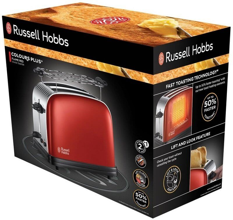 Toster Russell Hobbs Colours Plus Flame Red 23330-56