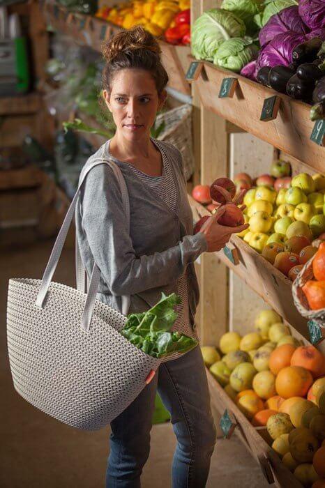 Koszyk na zakupy Curver Emily Knit (kremowy)