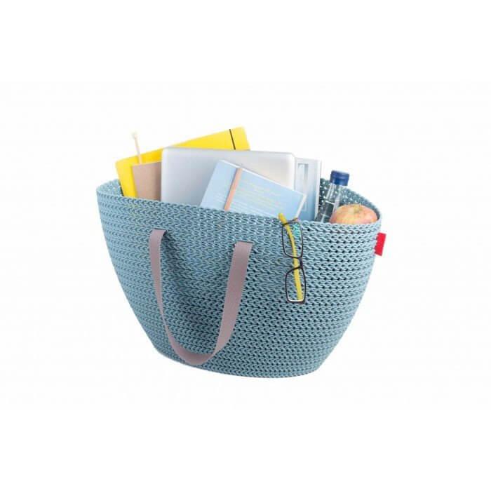 Koszyk na zakupy Emily Curver Knit (niebieski)