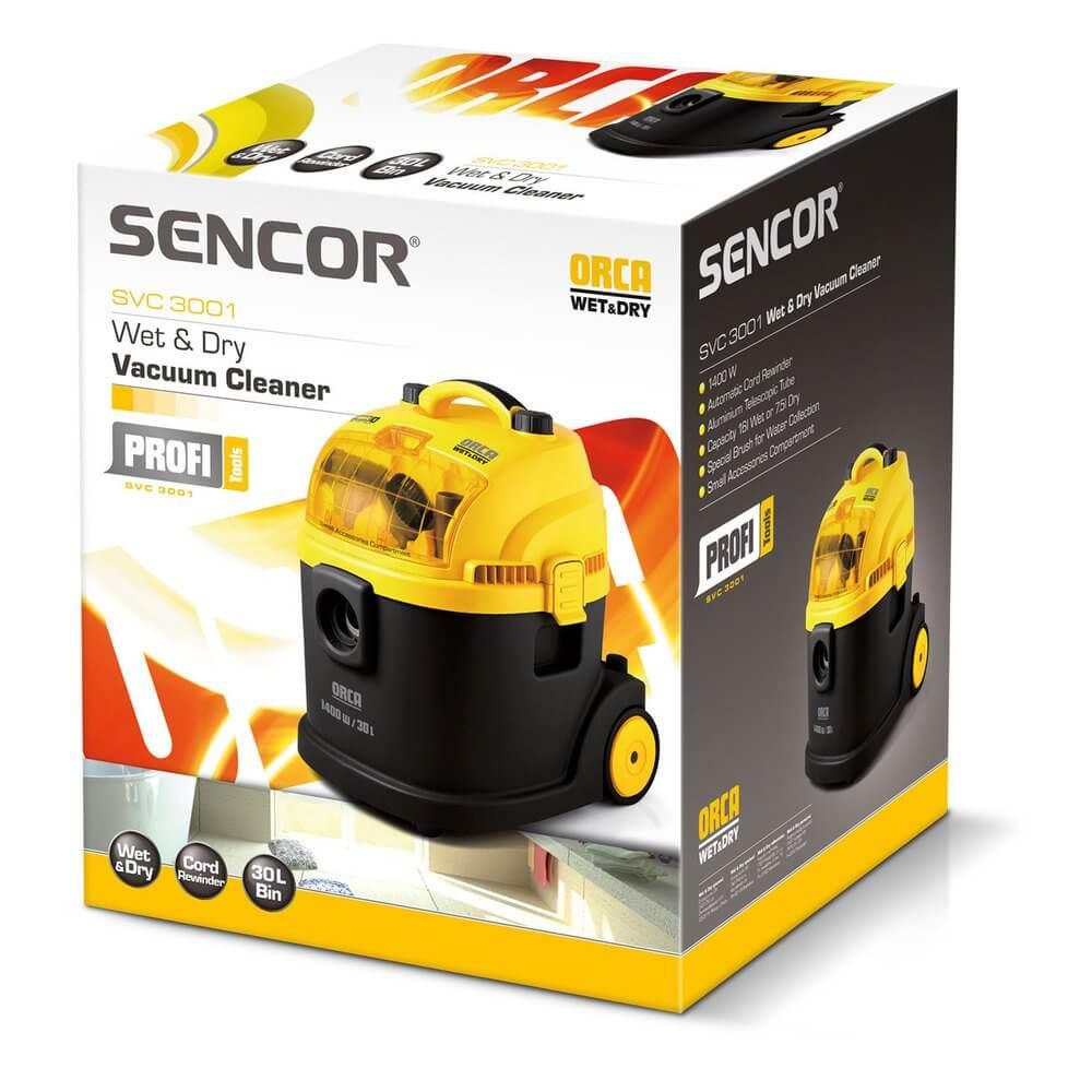 Odkurzacz do odkurzania na sucho i mokro Sencor SVC 3001