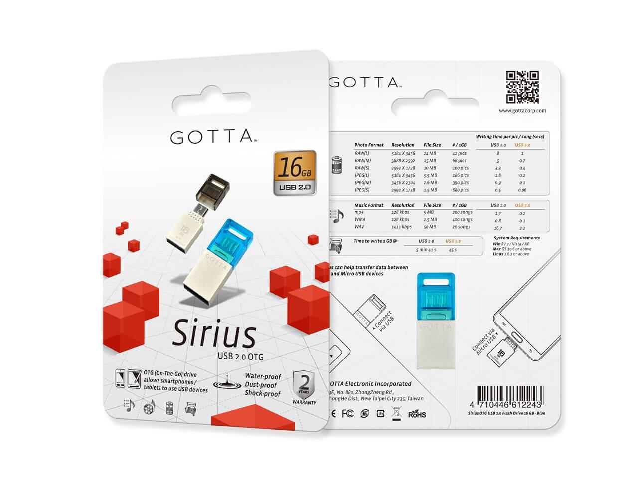 Dysk USB Gotta Sirius 16 GB