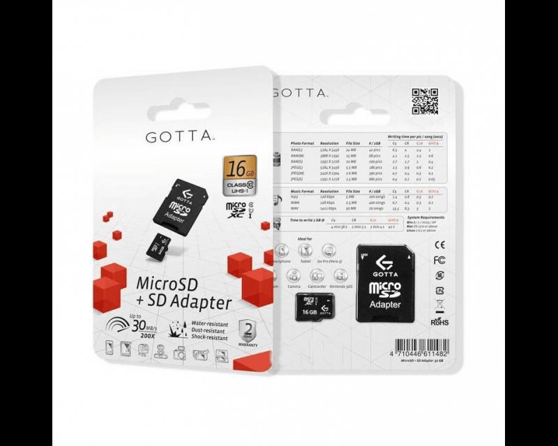 Karta pamięci micro SD 16 GB Class 10 + adapter