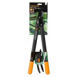 Zestaw narzędzi ogrodniczych Fiskars Sekator Powergear + Sekator Singlestep