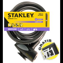 Linka rowerowa zamykana na klucz 180 cm ø12 mm(S755-204) Stanley