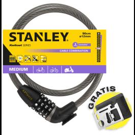 Linka rowerowa zamykana na szyfr 90 cm ø12 mm (S755-205) Stanley