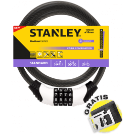 Linka rowerowa zamykana na szyfr 180cm x Ø10 (S741-153) Stanley