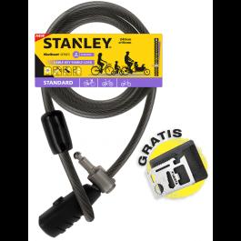 Rodzinna linka rowerowa zamykana na klucz 240 cm ø10 mm (S741-159) Stanley