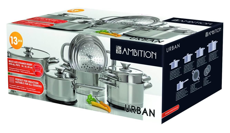 Zestaw garnków 13 - elementów Urban Ambition