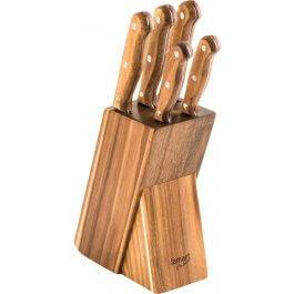 Zestaw 5 noży w bloku Lamart Wood LT2080